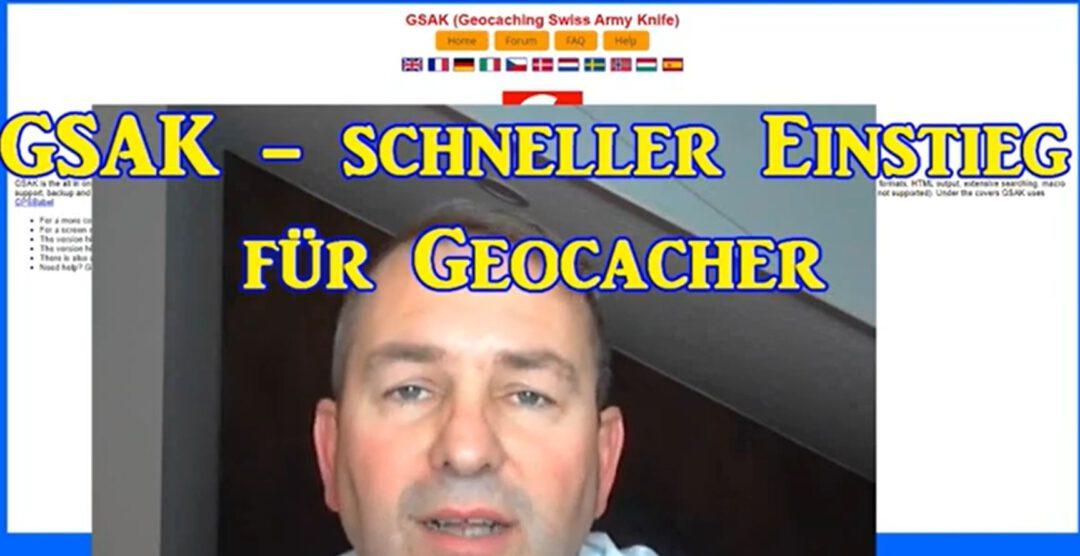 GSAK Video Geocacher Einstieg Starten
